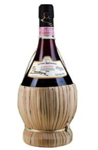 A traditional bottle of Chianti