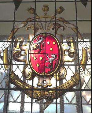 Bartolini Salimbeni Stained Glass Crest in Via del Giglio 6