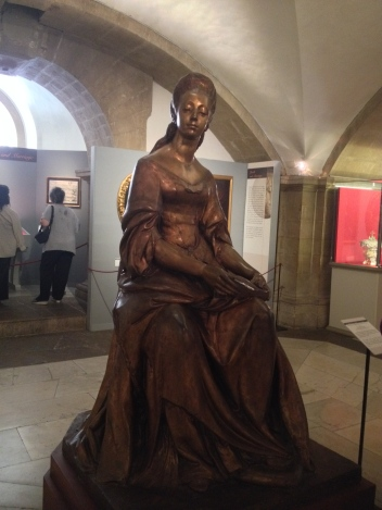 Statue of Anna Maria Luisa de'Medici in the Medici Chapels. Photo by Allison Boyd, Marist Italy MA