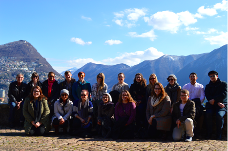 Masters students at Parco Tassino, Lugano, Switzerland. Picture Credit: Sarah Klein ©2015