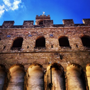 Palazzo Vecchio from below. Photo by Allison Boyd, MA '14