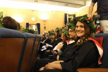 MA graduates during the ceremony