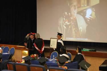 Storaro receiving his honorary Doctorate.