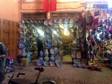 Ceramics in Marrakesh Medina